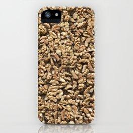 Walnut. Background. iPhone Case