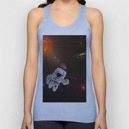 Astronaut Sun Stars Unisex Tank Top