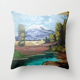 EL RÍO QUE PASA POR MI CASA Throw Pillow
