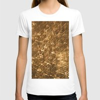 gold glitter T-shirts featuring Gold Glitter 2484 by Cecilie Karoline