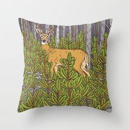 Buck & Pine Throw Pillow