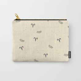 Aries Pattern - Beige Carry-All Pouch
