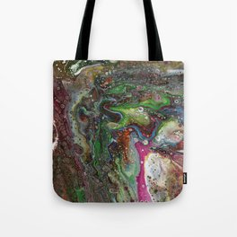 Fluid Acrylic VI - Original, abstract, textured fluid pour painting Tote Bag