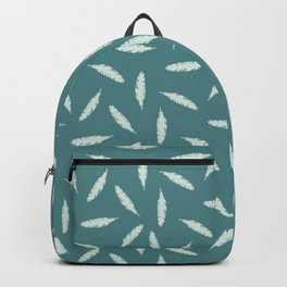 Pillow Fight, Mint on Teal Backpack