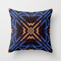 darren criss Throw Pillows featuring Criss Cross by Lyle Hatch
