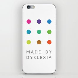 Made By Dyslexia iPhone Skin