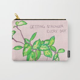getting stronger every day plant Carry-All Pouch