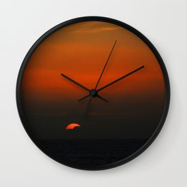 cloudy sunset seascape Wall Clock