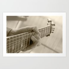 Play that guitar Art Print