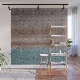 Jig-saw Puzzle Neutral Palette Design Wall Mural