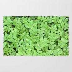 Green Clovers Rug