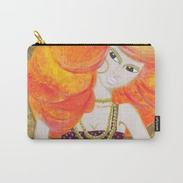 Pregnant red head young woman with jewels Carry-All Pouch