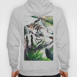 WHITE TIGER WATERCOLOR Hoody