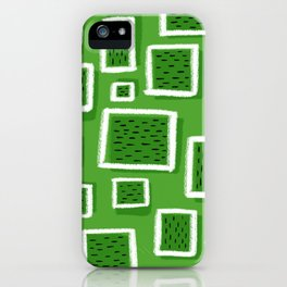 greeny square iPhone Case