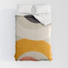 abstract modern geometric art Comforters