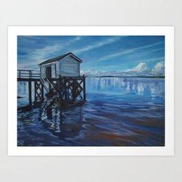 Omaha Wharf Art Print