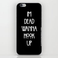 ahs iPhone & iPod Skins featuring AHS TEE by YUNG-GOD