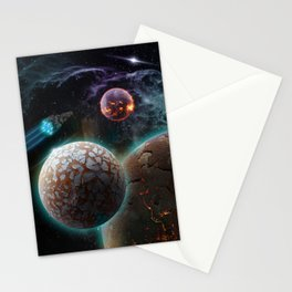 Deep Space Flare Stationery Cards