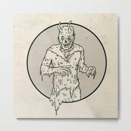 Goopy Alien Metal Print