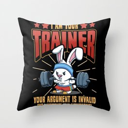 Muscle Builder Trainer Sport Bodybuilding Gift Throw Pillow