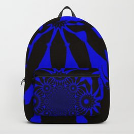 The Modern Flower Black and Blue Backpack