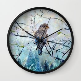 Winter Glow Wall Clock