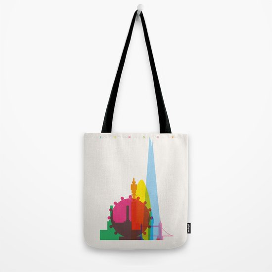 Shapes of London. Accurate to scale Tote Bag