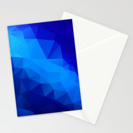 Abstract digital art polygon triangles Stationery Cards