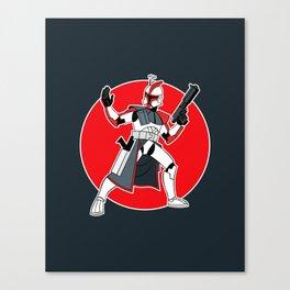 Red Troop Canvas Print