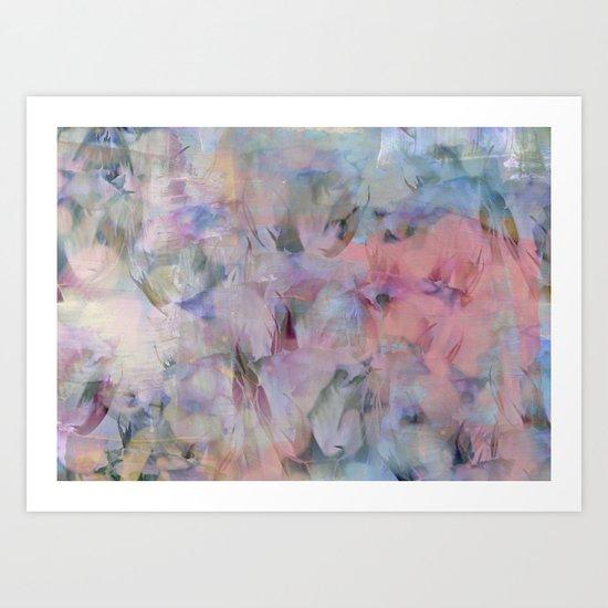 Painterly Soft Flora Abstract Art Print