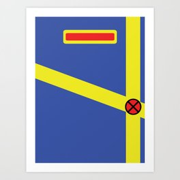 Cyclops - Minimalist - XMen Art Print