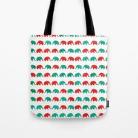 elephants Tote Bags featuring Elephants  by UvinArt