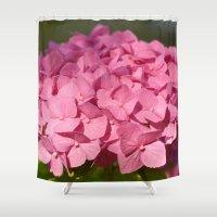 hydrangea Shower Curtains featuring Hydrangea by Susann Mielke