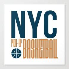 N.Y.C. Pick-Up Basketball Canvas Print