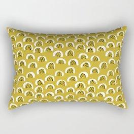Sunny Melon love abstract brush paint strokes yellow ochre Rectangular Pillow