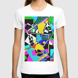 Colour Pieces - Geometric, eclectic, colourful, random pattern of shapes T-shirt