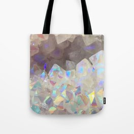 Iridescent Aura Crystals Tote Bag