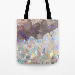 Iridescent Aura Crystals Tote Bag