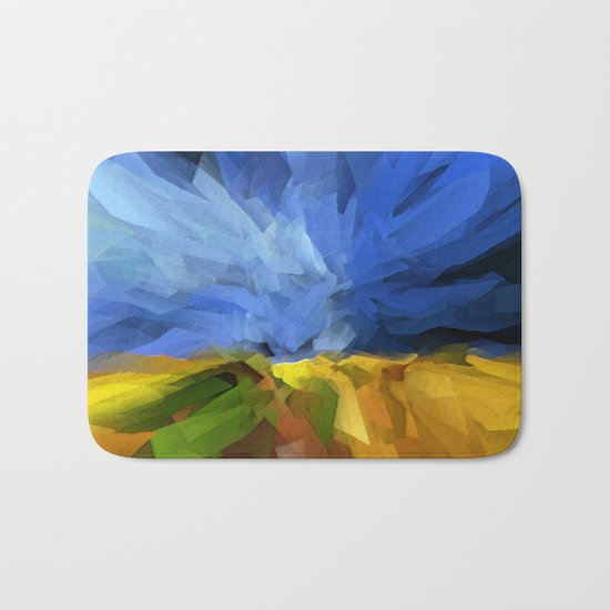 Wheat Field, Storm Approaching Bath Mat