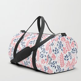Wistful Floral - Coral and blue Duffle Bag