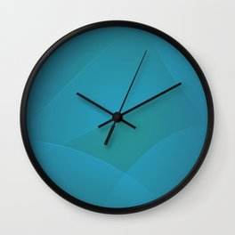 Jelly Bean & Eastern Blue Colors Wall Clock
