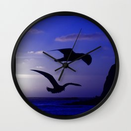 the double bird blues Wall Clock