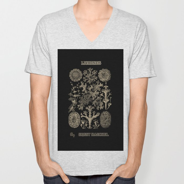 """""""Lichenes"""" from """"Art Forms of Nature"""" by Ernst Haeckel Unisex V-Neck"""