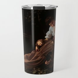 Saint Francis of Assisi in Ecstasy by Caravaggio (1595) Travel Mug