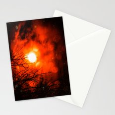 Burning Moon Stationery Cards