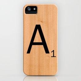 Scrabble Letter Tile - A iPhone Case