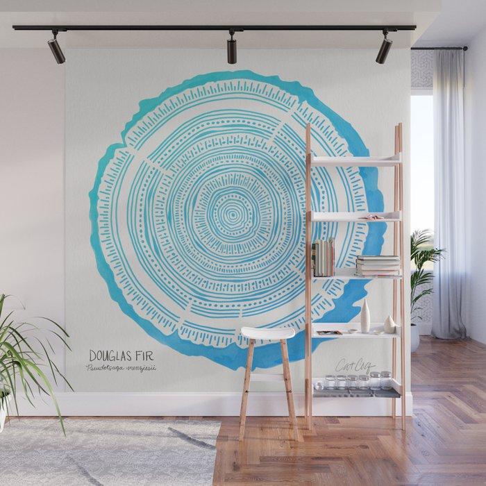 Douglas Fir – Blue Ombré Wall Mural