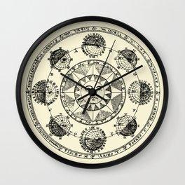 Horoscope Astral Wheel Wall Clock