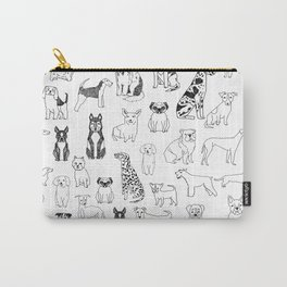 Dogs pattern minimal drawing dog breeds cute pattern gifts by andrea lauren Carry-All Pouch