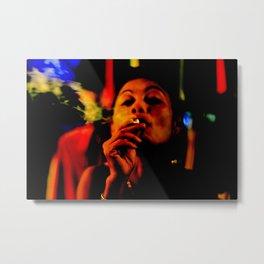 Smoking in the Nightclub Metal Print